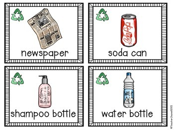 Recycling - Write the Room Sort