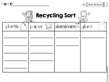 Recycling Sort Write the Room