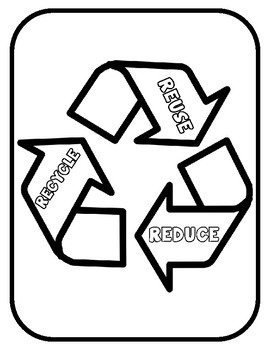 recycling template for art project earth day reduce reuse recycle