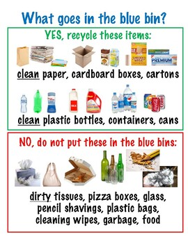 Recycling Tips for the Blue Bins