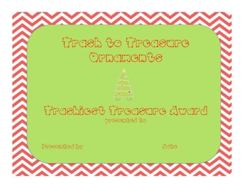Recycling:  Trash to Treasure Ornaments