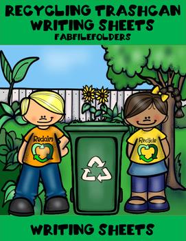 Recycling Trashcan Writing Activity