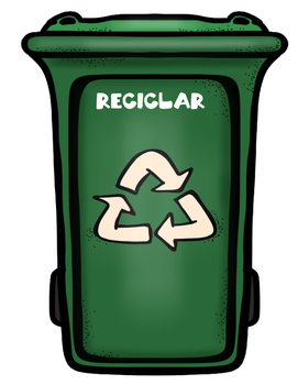Earth Day/Recycling Trashcan Writing Activity in Spanish