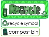 Recycling Word Wall Weekly Theme Posters.