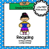 Recycling Writing Cut and Paste Craftivity