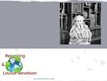 Recycling and Louise Nevelson STEM STEAM lesson