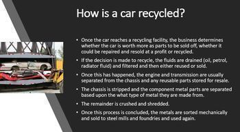 RECYCLING AUTOMOBILES, AIRCRAFT AND SHIPS PPT: SUSTAINABILITY AND ENVIRONMENT