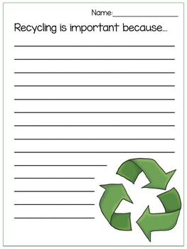 Earth Day Writing Prompt:Recycle