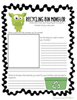 Recylcing Bin Monster-Monster Mash