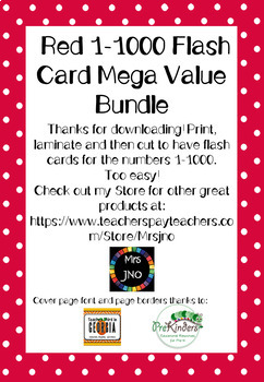 Red 1-1000 Flash Card Mega Value Bundle