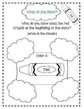 Red, A Crayon's Story by Michael Hall-A Complete Companion Journal
