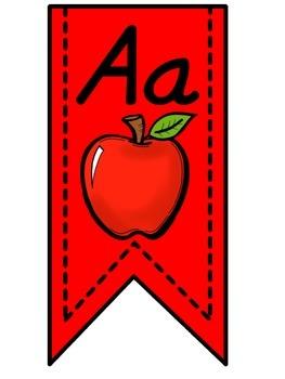 Red Alphabet Banner