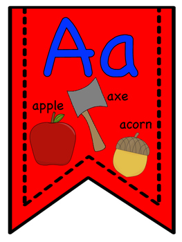 Red Alphabet Banners