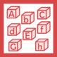 Red Alphabet Blocks Clip Art Clipart