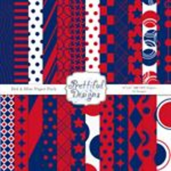 Red And Blue Team Color Papers