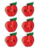 Red Apple Alphabet Letter Puzzle Games or Center Activity