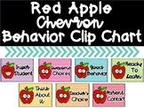 Red Apple Chevron Behavior Clip Chart