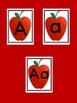 Red Apple Full Page Alphabet Letter Posters Uppercase and
