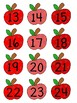 Red Apple Labels with numbers