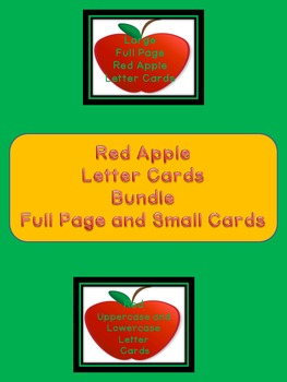 Red Apple Letter Alphabet Flashcards and Posters Bundle