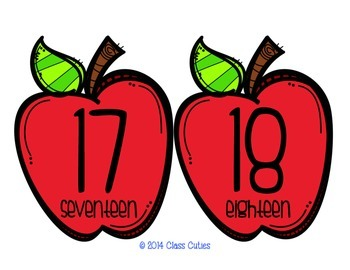 Red Apple Numbers 1-30