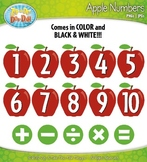 Apple Numbers Clipart {Zip-A-Dee-Doo-Dah Designs}