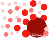 Red BOOMdot Poster Template