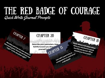 Red Badge of Courage Narrative Journal Prompts