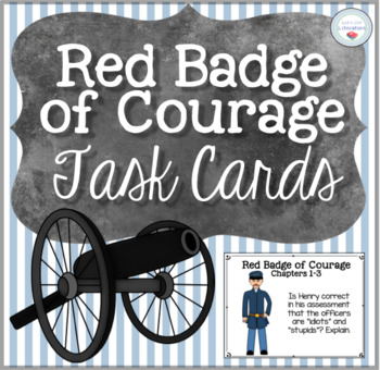 Red Badge of Courage Task Cards