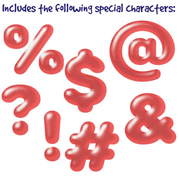 Red Balloon Clip Art Alphabet Letters & Frames