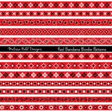 Red Bandana Border Patterns Clipart