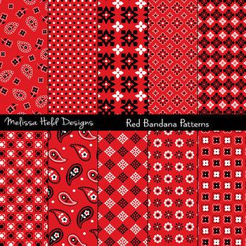 Bandana Patterns: Red