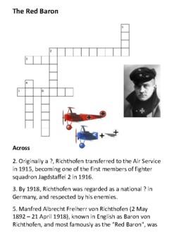 Red Baron Crossword