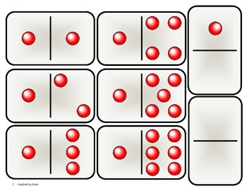 """""""Red Beads"""" Domino Math for Autism"""