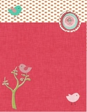 Red Binder Cover with birds