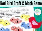 Red Bird Craft & Math Game: Pre-K, Transitional Kinder, Kinder