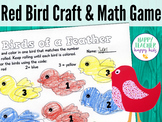 Red Bird Craft & Math Game: Pre-K, Transitional Kinder, Kinder