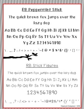 Red Bird Font Set #2 (6 Fonts for Personal or Commercial Use)