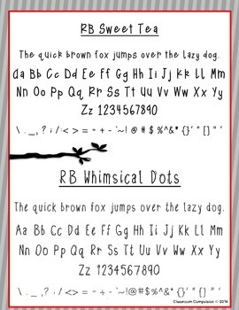 Red Bird Font Set #3 (6 Fonts for Personal or Commercial Use)