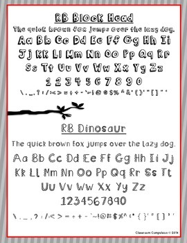 Red Bird Font Set #4 (6 Fonts for Personal or Commercial Use)