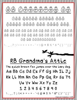Red Bird Font Set #6 (6 Doodle Fonts for Personal or Commercial Use)