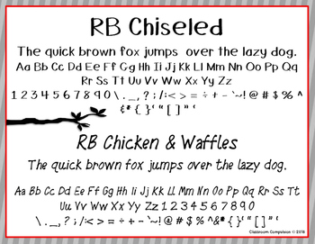 Red Bird Font Set #9 (6 Handwritten Fonts for Personal or Commercial Use)