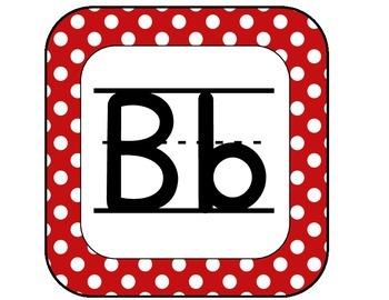 Red & Black Alphabet Banner