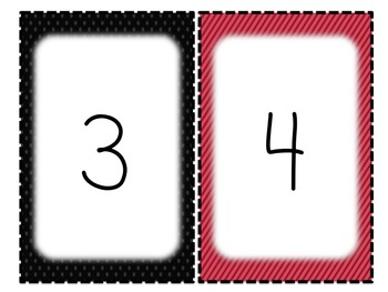 Red & Black Classroom Alphabet and Number Signs