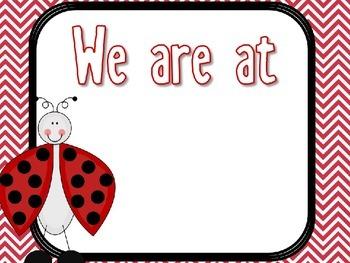 EDITABLE Red & Black Ladybug Classroom Decor Theme Pack