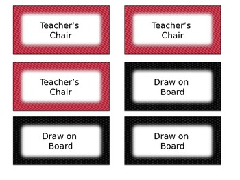 Red & Black Classroom Management Positive Reward Tickets Editable