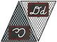 Red & Black Moroccan D'Nealian Cursive Alphabet Posters