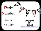 Red & Black Pirate Number Line