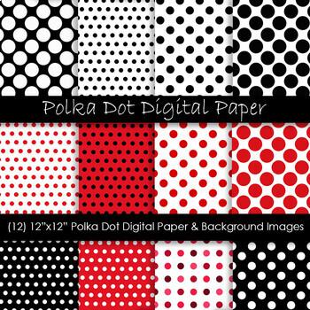 Red & Black Polka Dot Backgrounds