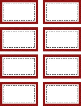 Red & Black Tags